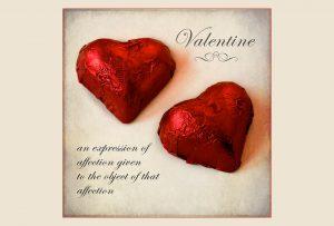 valentine chocolate hearts